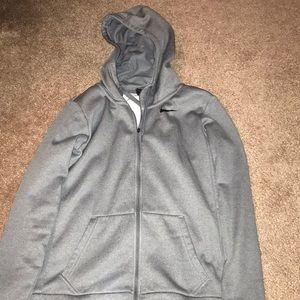 Nike grey zip up sweatshirt